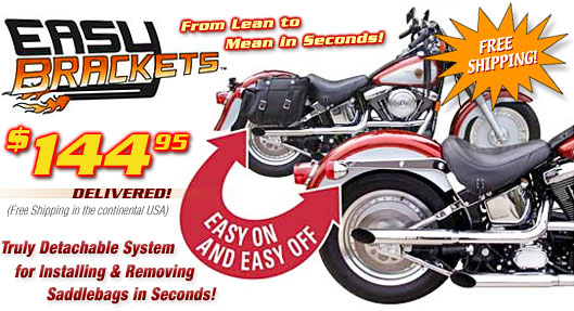 Easy Brackets Motorcycle Saddlebag Brackets Free Shipping