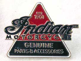 Indian Motorcycle 'Genuine Parts' Lapel Pin