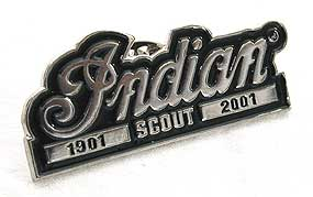 Indian Motorcycle 'Scout 1901-2001' Lapel Pin