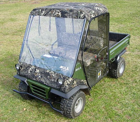 Kawasaki Mule 2500 2510 Full Cab Enclosure with Removable Doors