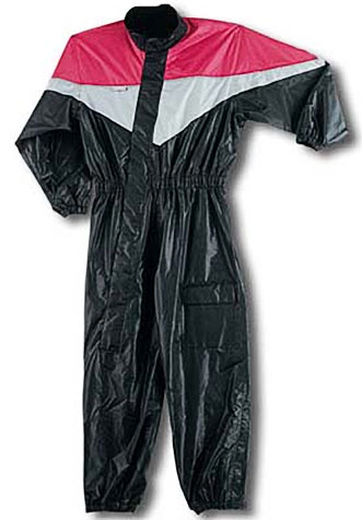 One Piece Waterproof Motorcycle Rainsuit with Reflective Material and Duratex Patches