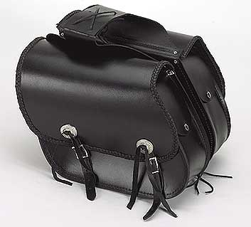 Slanted Quick-Release Throwover PVC Saddlebags