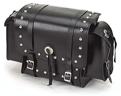 Leather Sissybar Bag with Decorative Studs